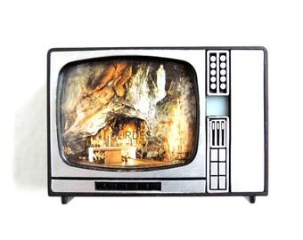 French Vintage Lourdes Souvenir TV Image Viewer
