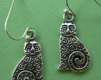 Paisley Cat Earrings