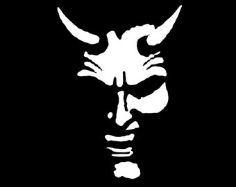 Devil Demon Decal sticker wall art car graphics room decor emo goth gothic metal AA17