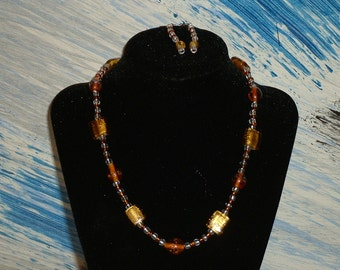 Hand Crafted 2 piece Earring and Necklace set