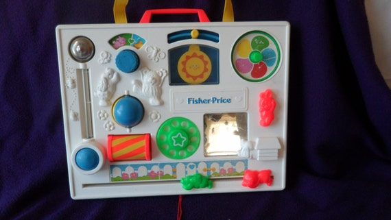 Fisher Price Crib Toys : Vintage fisher price busy box activity crib toy by