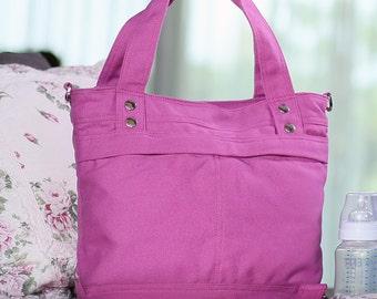 Calla / Medium / Lavender / Lined with Beige / Ship in 15 days // Diaper bag / Shoulder bag