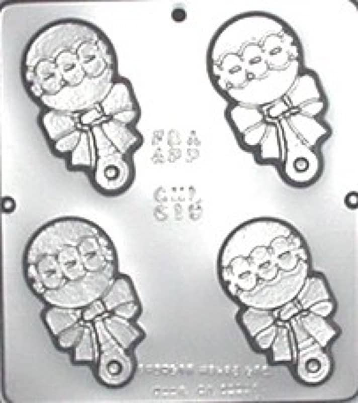 baby rattle chocolate candy mold baby shower by candymoldsnmore