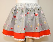 Skipping (to) School - Organic Cotton Little Girls Skirt