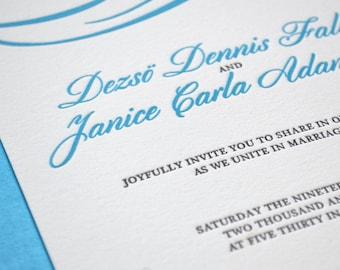 The Classic Swirl - Letterpress Wedding Invitations