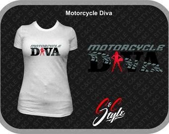 Biker Diva Custom Womens T Shirt