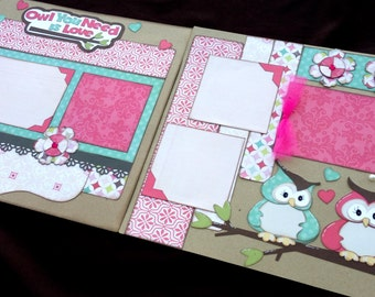 12x12 Scrapbook Page Owl You Need Is Love Kit Girl Kit
