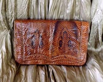 Antique Snake Skin Purse_Cobra Skin Clutch_Authentic Snake Clutch