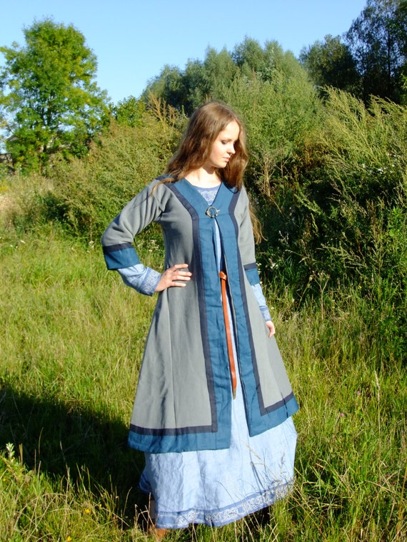 Early Medieval Coat For Woman Viking Slav Reenactment