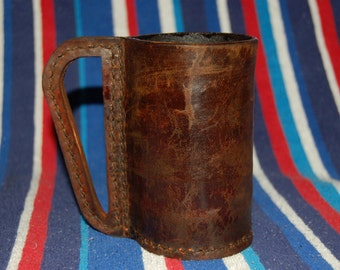 Brown Pint Leather Mug