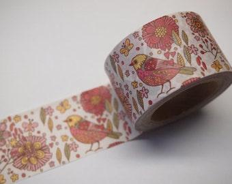 Vintage Bird Washi Tape -- Japanese Washi Tape -Deco tape-- 30mm x10M