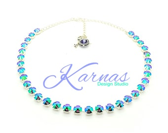 CRYSTAL PARADISE SHINE 8mm Crystal Rivoli Necklace Made With Swarovski Crystal *Pick Your Finish *Karnas Design Studio *Free Shipping*