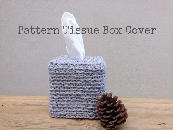 Items Similar To Crochet Pattern Tissue Box Cover