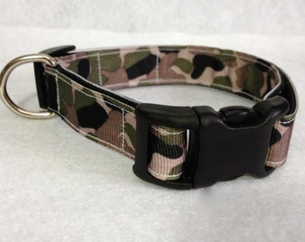 5/8 Wide Camo Dog Collar