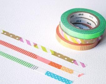 mt slim washi tapes - Brights (E) - Thin washi tape set - mt masking tape