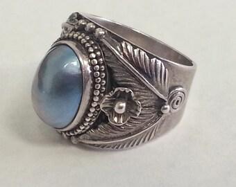 Suarti Mabe Pearl Silver Ring