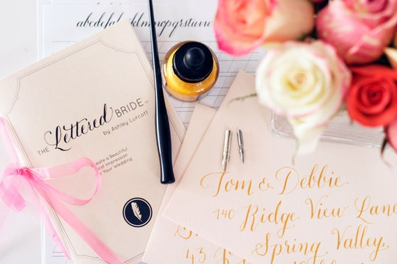 Diy Calligraphy Kit The Lettered Bride By Ashleylurcott On