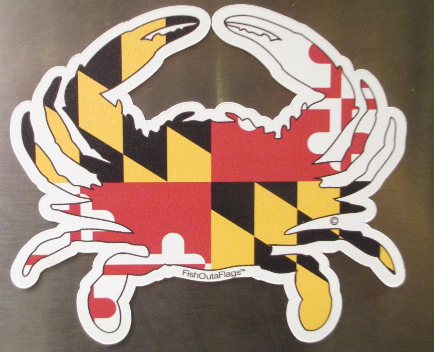 Maryland Flag Crab t Shirt Maryland Crab Outa Flags
