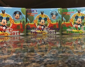 DIY Personalization Decal for Disney Autograph Book