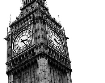 London Photography, Black and White, Big Ben,