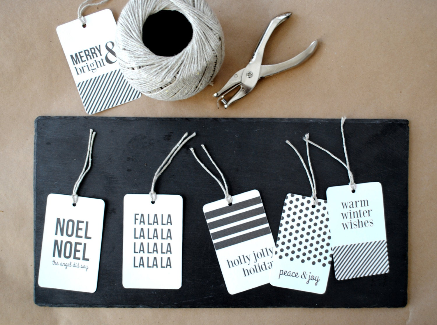 Modern Christmas Gift Tags By Griffanie On Etsy