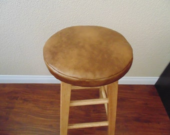Bar Stool Cover Amber Brown Faux Leather 12 Quot 13 Quot 14 Quot 15