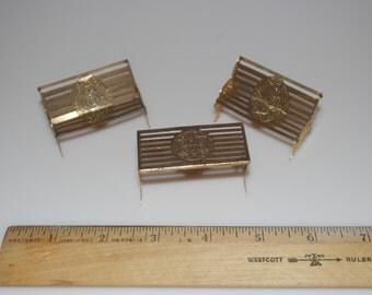 Items Similar To Tootsie Toys Gold Miniture Furniture