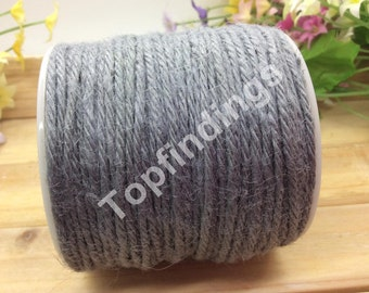 U Pick! 2mm Hemp Rope-Hemp Twine-Flax Kraft String-Hang Tag String-Gray