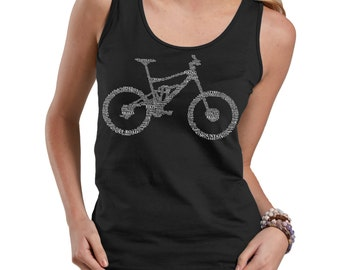 Bicycle Part Name Tank Top Bike BMX Bike Fan Ladies Tank Top