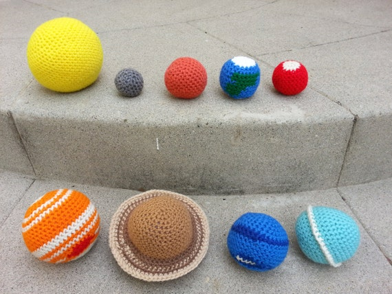 Toys For Geeks : Items similar to crochet space solar system stuffed plush
