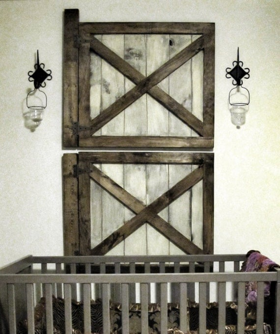 vintage rustic barn door wall decor by rustic luxe