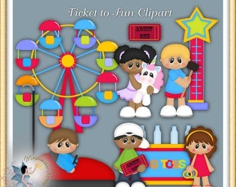 Carnival Clipart, Ferris Wheel, Ticket to Fun