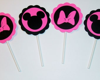 Mickey and Minnie Cupcake toppers (205C)