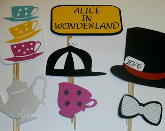 14 pc Disney inspired Alice and Wonderland photo prop (2092D)