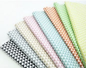 "Laminated Cotton Fabric 0.65"" (1.7cm) Mini Triangle In 7 Colors By The Yard"