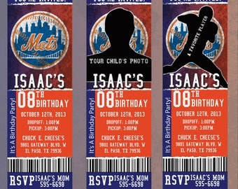 Custom Mets Birthday/Event Invitation!