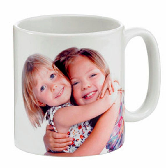 Beautiful Personalized photo11oz Ceramic White Mug using Your Image, Great gift idea, company logos, double sided images, durable finish