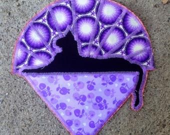 Cats Under The Stars Original Handmade Patch, Purples