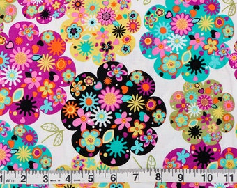 Flower Power - Designer Fashion Fabric - One Yard (3 yards available)