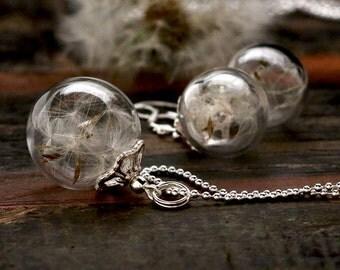 925 Silver Jewelry with dandelion - set016