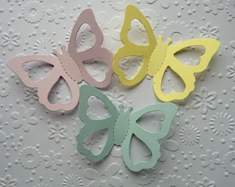 20 Pastel Bright sizzix 3D Butterfly die cuts for cards toppers cardmaking scrapbooking paper craft