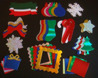 50 **Christmas**die cuts for cardmaking **Variety Pack** scrapbook albums cards/toppers children's craft