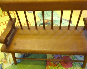Shaker Meetinghouse Bench doll house miniture