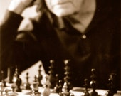 Chess Player Photographic Print - Memory Series Black and White Fine Art Photograph - KeswickandWeldon