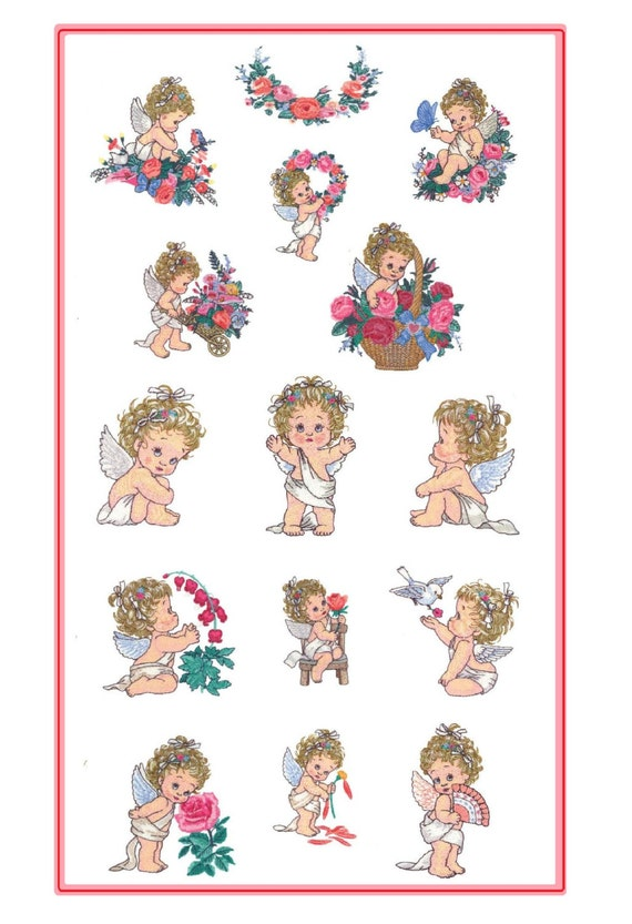 Cherished Angels Embroidery Designs - PES