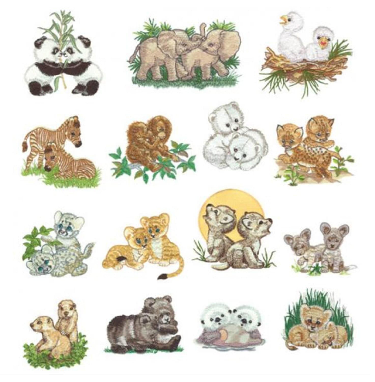 Baby animals set machine embroidery designs by bestdesigns