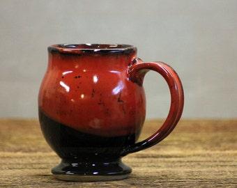 Hand thrown stoneware pottery mug Saigon Red Barrel style