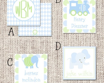 Personalized Boy Enclosure Cards or Labels