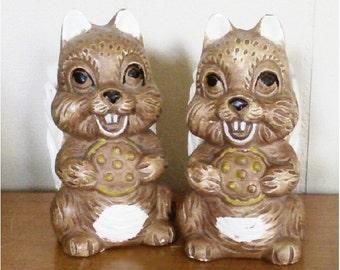 Vintage Squirrels Salt & Pepper Shakers