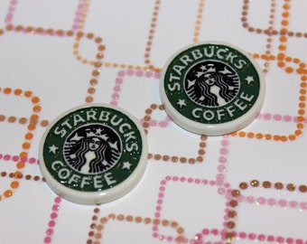 Starbucks Flat back Cabochon 2pcs